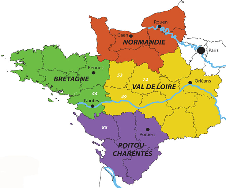 Infos sur : carte nord ouest de la france - Arts et Voyages